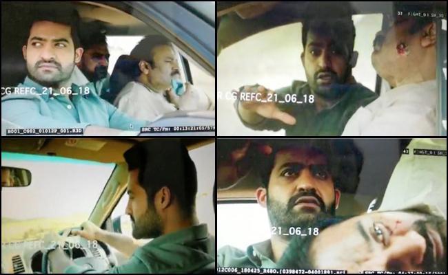 Jr NTRs Aravinda Sametha Movie Stills Again Leaked - Sakshi