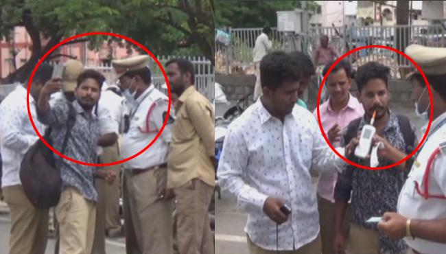Drunken Man Shocked Police With His Behaviour In Secunderabad - Sakshi