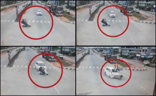 Innova Hits Scooty Student Died - Sakshi