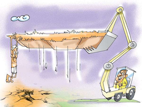TDP Leaders Huge Land Scams in the state - Sakshi