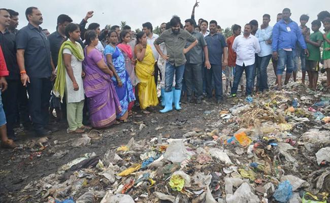 Pawn Kalyan demands Bhimavaram Dumping Yard Will Be Changed To Outskirts - Sakshi