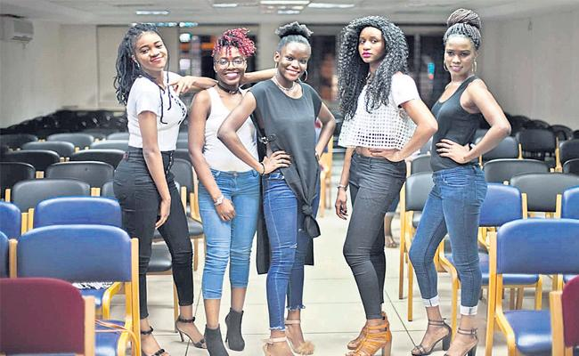 African Students In Hyderabad City Fashion Events Models - Sakshi