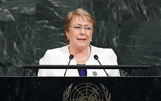 Ex-Chilean President Michelle Bachelet to be next UN Human Rights chief - Sakshi