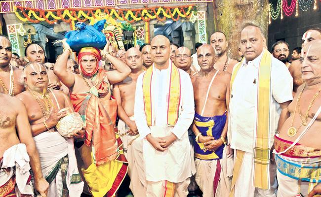 TTD Maha Samprokshanam Started - Sakshi