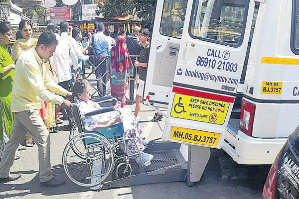 Easy Move for Disabled People At Mumbai - Sakshi