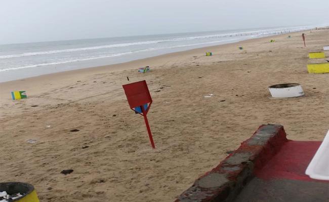Bapatla Rumors On Surya Lanka  Sea In Guntur - Sakshi