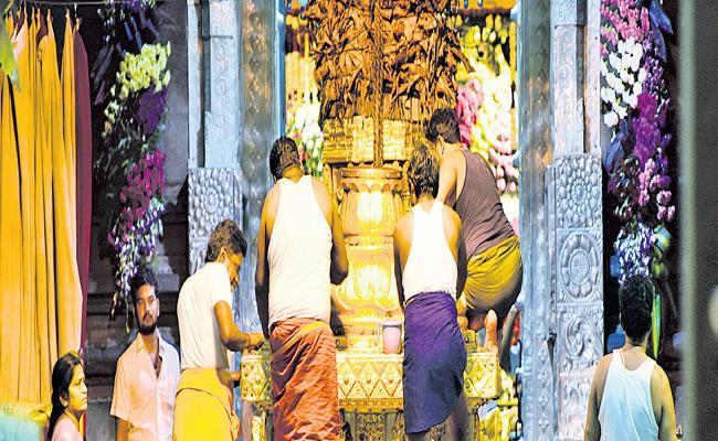 TTD Maha Samprokshanam Ashta Bandhana - Sakshi