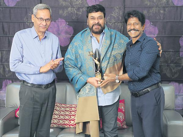 Best Hero Award for Chiranjeevi From Sakshi Excellence Awards
