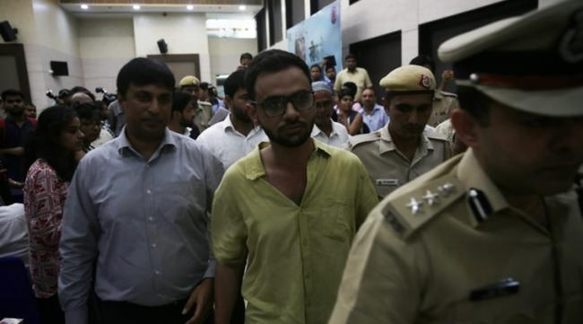 Delhi Police Track Key Phone Number Over Attack On Umar Khalid - Sakshi