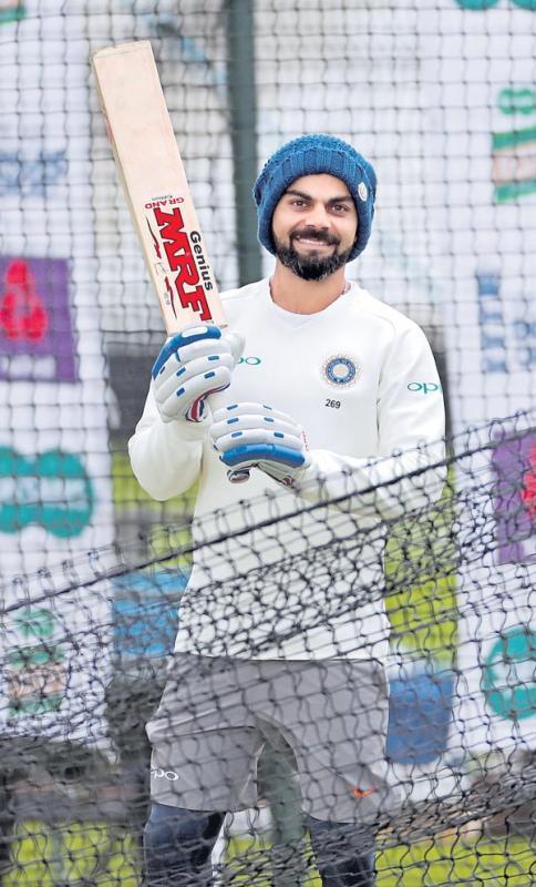Virat Kohli fit to face England in third Test after back pain subsides - Sakshi