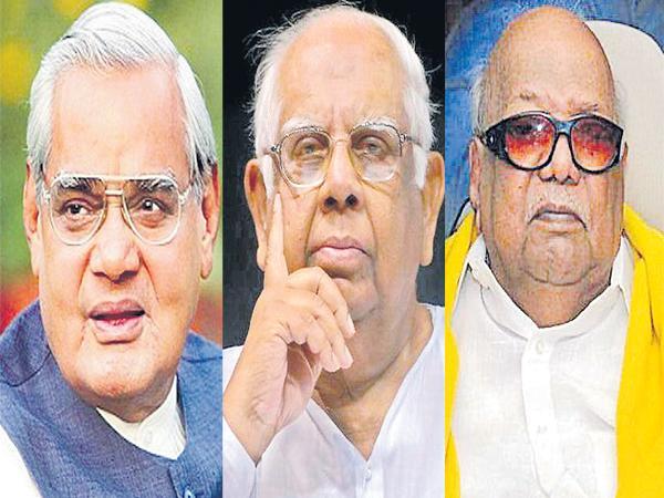Karunanidhi and Somnath and Atal Bihari Vajpayee passed away within ten days - Sakshi