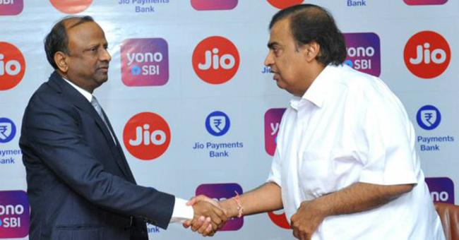 SBI, YONO to integrate with RIL's MyJio platform - Sakshi