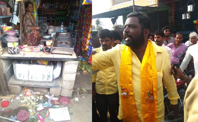 TDP MPTC Attack On Woman In Anantapur - Sakshi