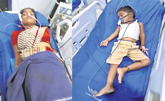 Women Attempt To Suicide With Kids - Sakshi