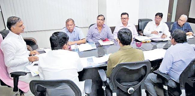 t harish rao review meeting in jalasoudha - Sakshi