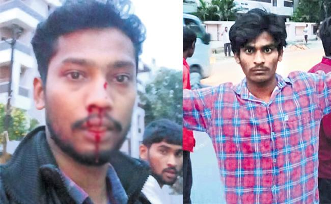 Man Attack In Alcohol Drinking Hyderabad - Sakshi