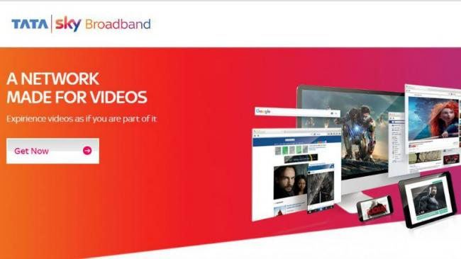 Tata Sky Broadband Internet Service Rolls Out In 12 Cities - Sakshi