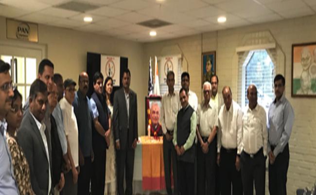 NRIs Atal Bihari Vajpayee Condolence Meeting At Texas - Sakshi