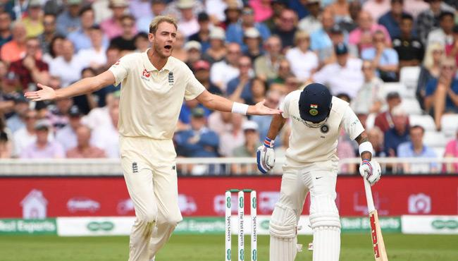 Stuart Broad Fined For Indian Batsman Rishabh Pant Send Off - Sakshi