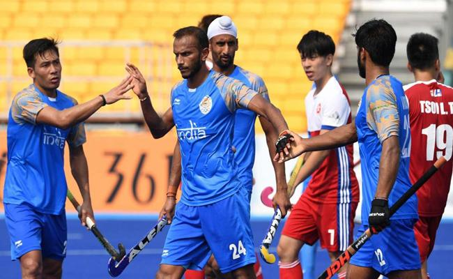 Indian Hockey Team Wins Against Hong Kong In Asian Games - Sakshi