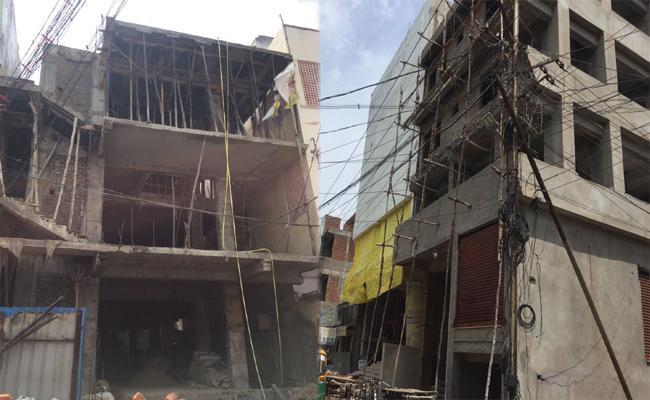 Without Permission Construction In Krishna - Sakshi
