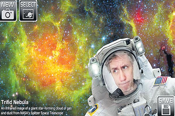 NASA app lets you click selfies with galaxies - Sakshi