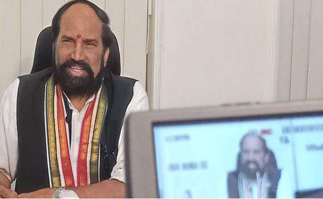 Uttam Kumar Reddy Teleconference With Booth Level Leaders - Sakshi