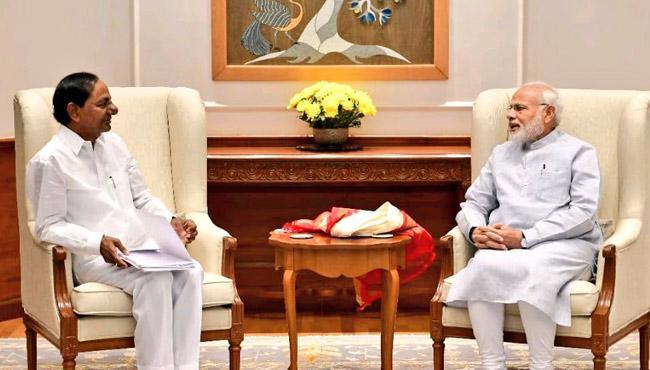CM KCR To Meet PM Modi in Delhi - Sakshi