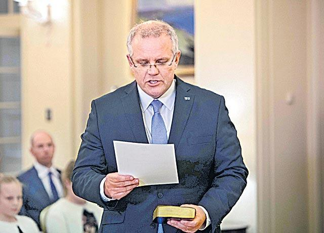 Scott Morrison elected as new leader of the Liberal party  - Sakshi