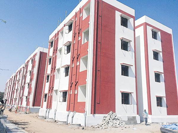 Increased speed of the construction of a double bedroom homes - Sakshi