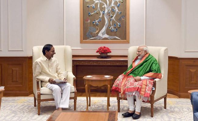 CM KCR Meeting With Modi Has Ended On Saturday In Delhi - Sakshi