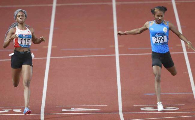 Hima Das WonThe Silver Medal In Asian Games - Sakshi