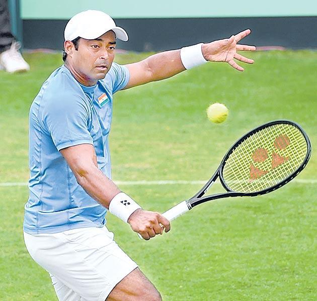 Leander Paes Winston Salem Open tournament Cerretani runner up - Sakshi