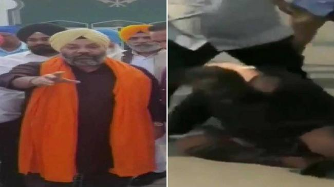 Akali Dal Leader Dragged Beaten Up Outside A Gurdwara In US - Sakshi