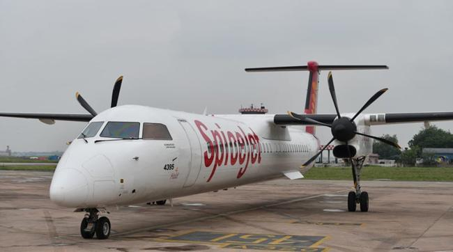 India  First Test Flight Powered by Bio-Fuel  by SpiceJet - Sakshi