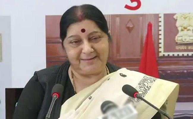 Sushma Swaraj Says For Indians Stuck Anywhere Help Just A Tweet - Sakshi