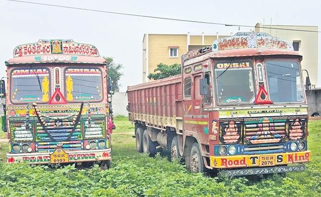 Three Lorries Seized - Sakshi