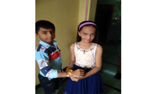 Raksha Bandhan Celebrations In Khammam - Sakshi