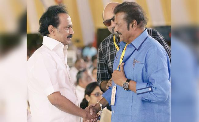 I hope to see you as the Chief Minister, Mohan babu on MK Stalin - Sakshi