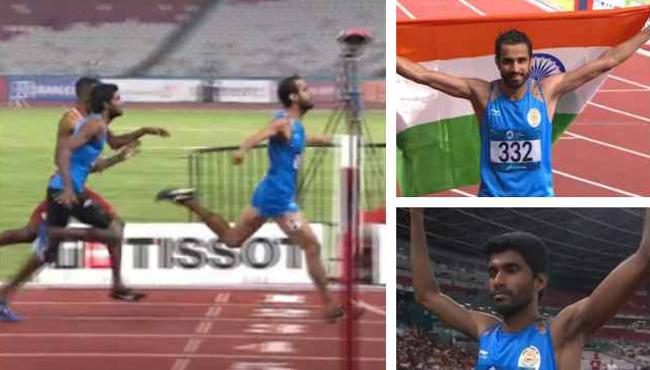 Manjit Singh Wins Gold And Jinson Johnson Silver In Men 800m - Sakshi