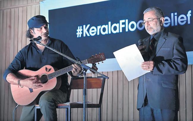 Supreme Court judges sing for Kerala flood relief - Sakshi