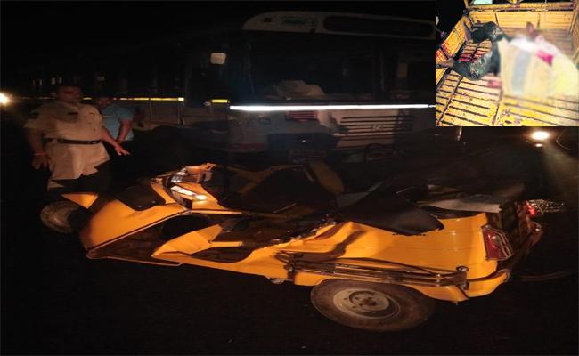 RTC Bus Accident In Karimnagar - Sakshi