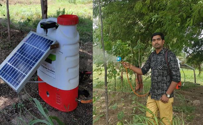 Rural scientist Pawan New Solar Pump For Farmers - Sakshi
