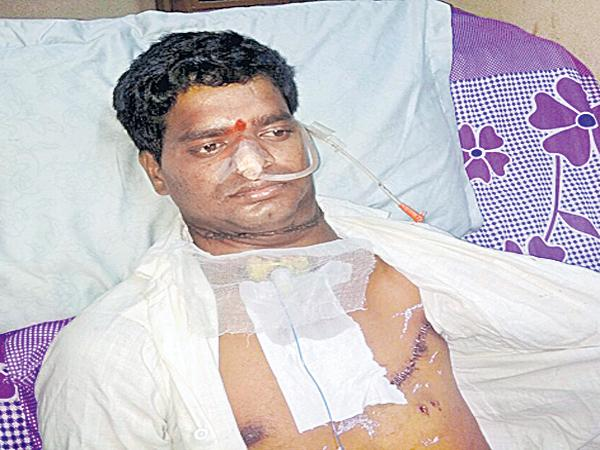 private doctors neglect takes young man throat - Sakshi