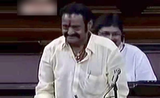 When Nandamuri Harikrishna Talks in Telugu in Rajya sabha - Sakshi