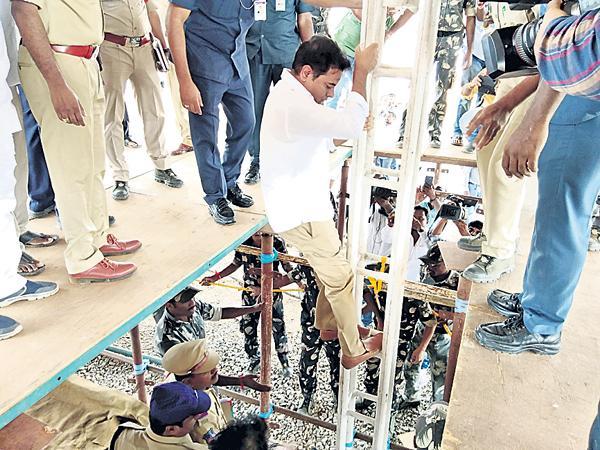 KTR Fires on TDP alliance with Congress - Sakshi