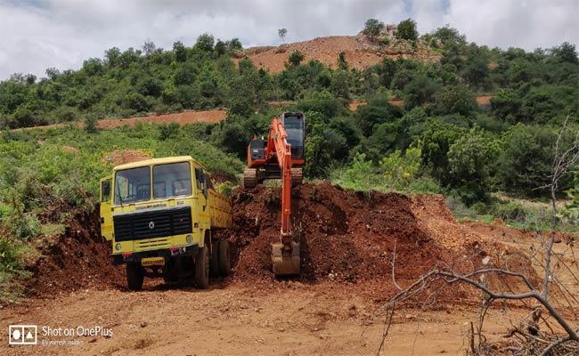 Illegal Soil Transport - Sakshi