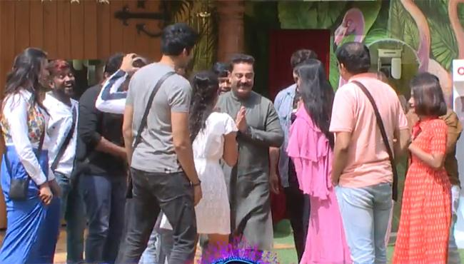 Host Nani Welcomes To Tamil Host Kamal Haasan To Bigg Boss Telugu 2 - Sakshi