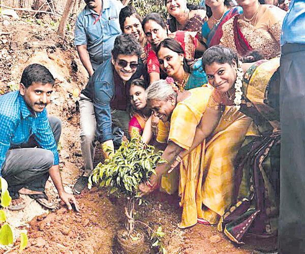 Nagarjuna accepted green challenge - Sakshi
