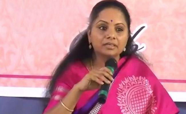 Kavitha Slams Congress Leaders In Nizamabad - Sakshi